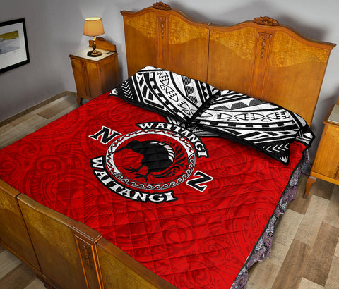 New Zealand Maori Quilt Bed Set Waitangi Day - Red K5 - 1st New Zealand