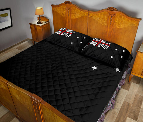 New Zealand Flag Black Jack Quilt Bedding Sets K54 - 1st New Zealand