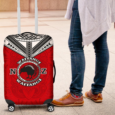 New Zealand Maori Luggage Covers Waitangi Day - Red K5 - 1st New Zealand