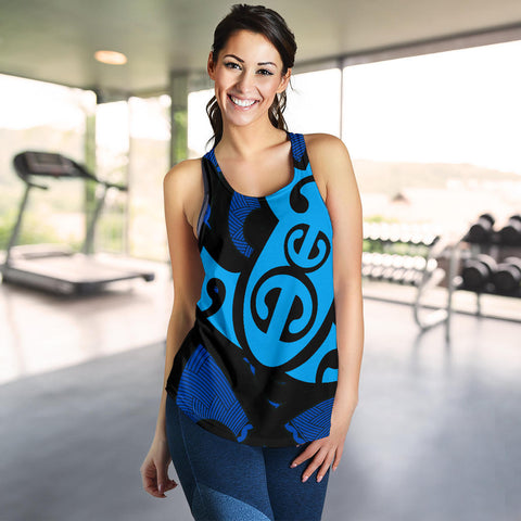 Image of Maori Blue Mangopare Women's Racerback Tank Th00 - 1st New Zealand
