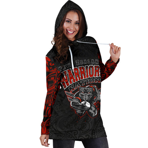 Image of New Zealand Warriors Hoodie Dress Unique Style K4
