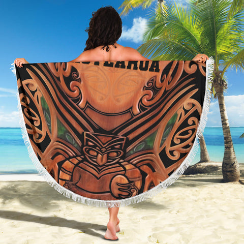 New Zealand Warriors Beach Blanket Whakairo K4 Front 4