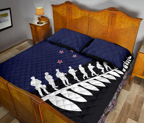 New Zealand Quilt Bed Set, Lest We Forget Anzac Fern Customized Quilt And Pillow Cover K5 - 1st New Zealand