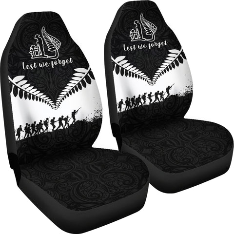 New Zealand Lest We Forget Car Seat Covers K4 - 1st New Zealand