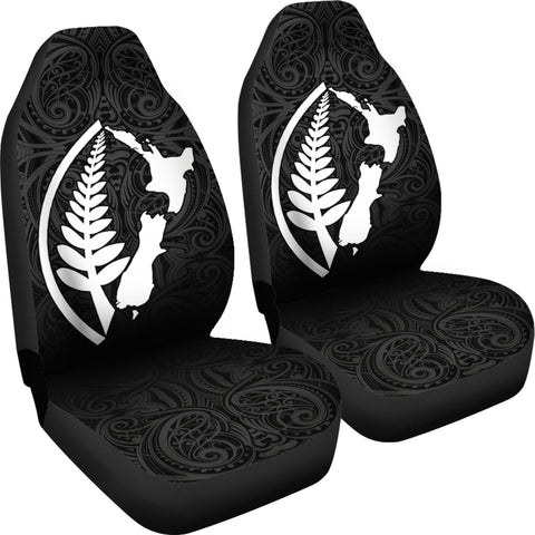 New Zealand Map Silver Fern Car Seat Covers TH0 - 1st New Zealand