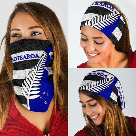 Image of Aotearoa - New Zealand Silver Fern Pattern Maori Bandana TH5 - 1st New Zealand