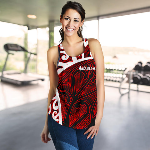 New Zealand Maori Koru Racerback Tanks TH5 - 1st New Zealand
