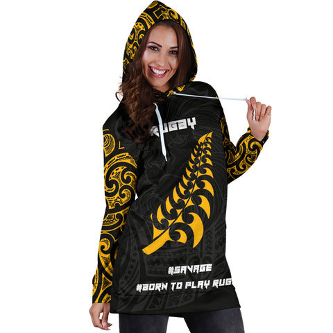 Image of New Zealand Maori Lion Rugby Hoodie Dress K5 - 1st New Zealand