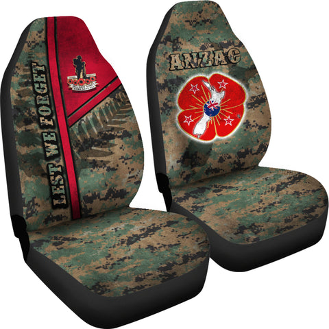 Anzac New Zealand Car Seat Covers Lest We Forget Camo - Road to Peace K4 - 1st New Zealand