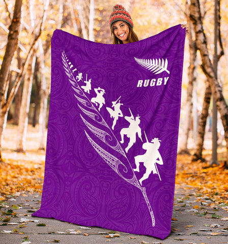 Rugby New Zealand Premium Blanket Violet K4 - 1st New Zealand