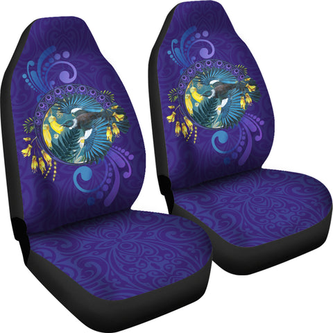 New Zealand Tui Kowhai Flowers Car Seat Covers K7 - 1st New Zealand