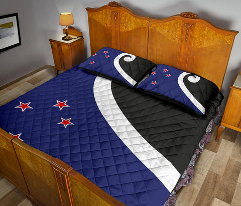 New Zealand Flag Finding Unity in Community Quilt Bedding Sets K5 - 1st New Zealand