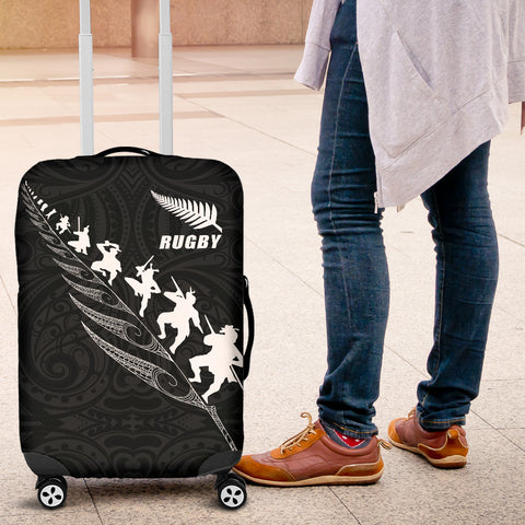 New Zealand Rugby Luggage Cover, Maori Haka Fern Suitcase Covers K4 - 1st New Zealand