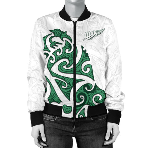 Maori Protection Tattoo Bomber Jacket for Women K4 - 1st New Zealand