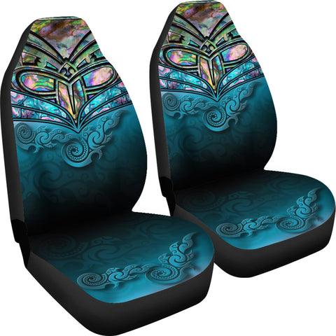 New Zealand Warriors Car Seat Covers Paua Shell 4