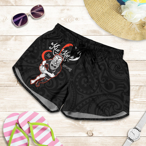 Rugby Haka Be Strong Women Shorts k413 - 1st New Zealand