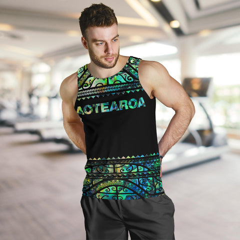 Image of New Zealand Tank Tops, Aotearoa Maori Silver Fern Sleeveless Shirts K4x - 1st New Zealand