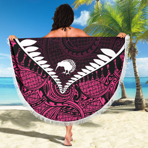 Kiwi Fern Beach Blanket Pink K4 - 1st New Zealand