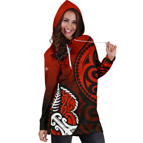 Lest We Forget - Maori Poppy Pullover Women's Hoodie Dress Th00 - 1st New Zealand