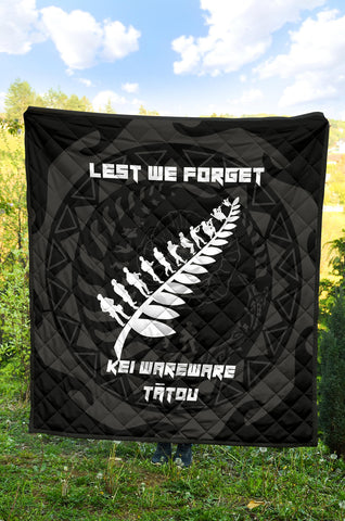 Image of Anzac Tattoo New Zealand, Lest We Forget Premium Quilt K5