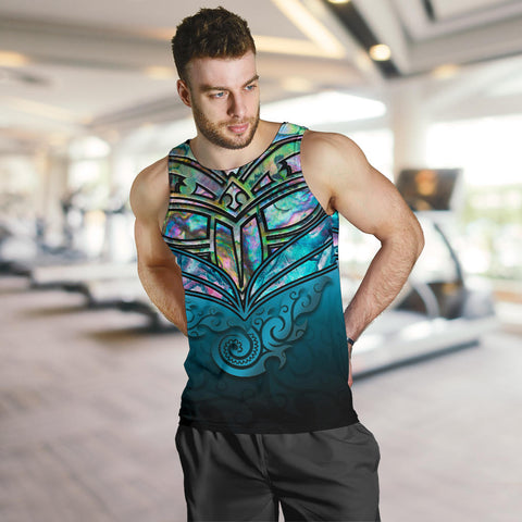 New Zealand Warriors Tank Tops For Men Paua Shell K4 - 1st New Zealand