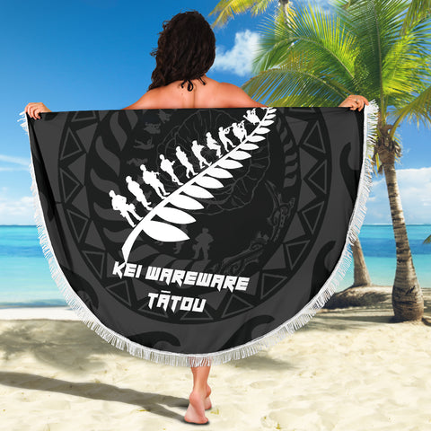 Anzac Tattoo New Zealand, Lest We Forget Beach Blanket K5 - 1st New Zealand
