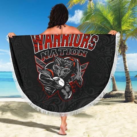 New Zealand Warriors Beach Blanket Unique K4 Front 4