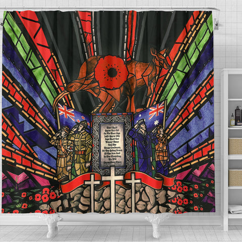 Image of New Zealand Shower Curtain, Anzac Day Lest We Forget Australia Th00 - 1st New Zealand