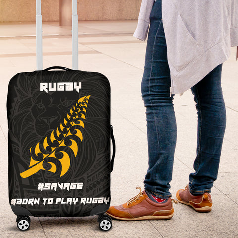 Image of New Zealand Maori Lion Rugby Luggage Covers K5 - 1st New Zealand
