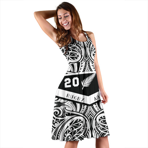 Aotearoa Rugby Win 2019 Midi Dress K47 - 1st New Zealand