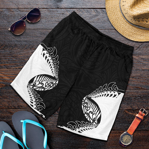 Image of New Zealand Rugby Fern Men Shorts K413 - 1st New Zealand