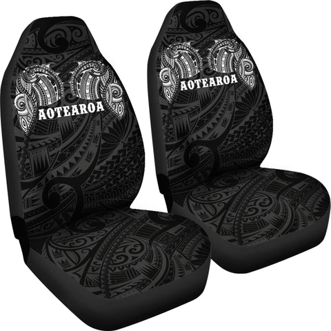 Aotearoa Maori Tattoo Car Seat Covers White K4 - 1st New Zealand