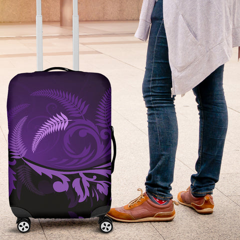 New Zealand Luggage Cover, Koru Silver Fern Suitcase Covers - 1st New Zealand