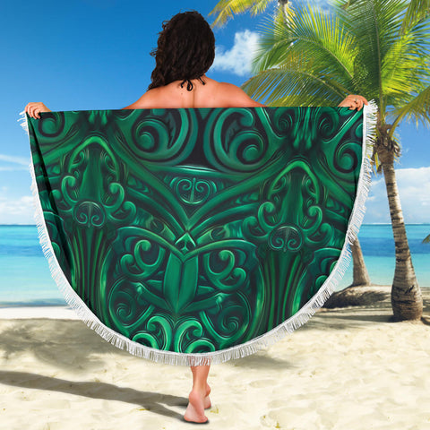 New Zealand Warriors Beach Blanket Green K4 Front 4