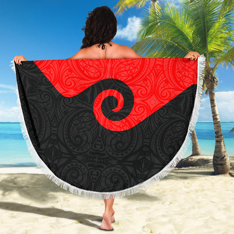 Image of Koru New Zealand Beach Blanket K4 Front 4
