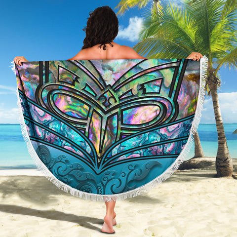 New Zealand Warriors Beach Blanket Paua Shell K4 Front 4