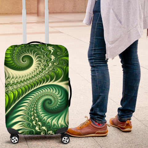 Image of New Zealand Luggage Cover, Koru Silver Fern Suitcase Covers K4 - 1st New Zealand
