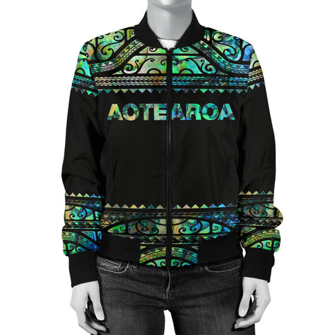 Image of New Zealand Jackets, Aotearoa Maori Silver Fern Women's Bomber Jackets K4x - 1st New Zealand