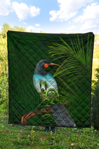 Huia Bird New Zealand Premium Quilt K5 - 1st New Zealand