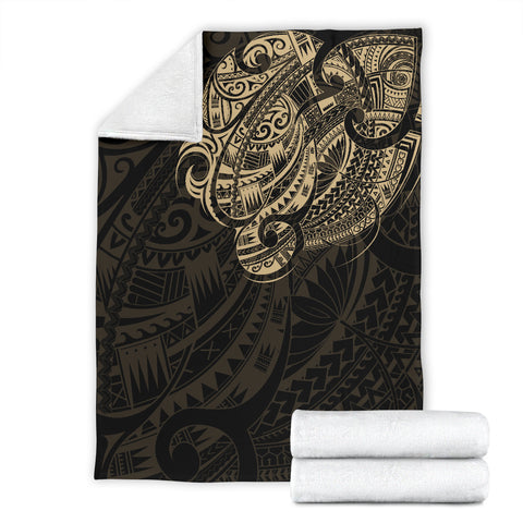 Image of Maori Tattoo Style Premium Blanket - Golden Version A74