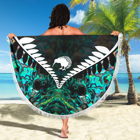 Image of Kiwi Fern Beach Blanket Paua K4 - 1st New Zealand