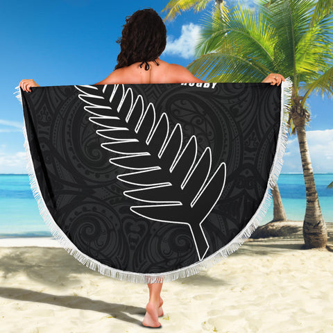 Silver Fern Rugby Beach Blanket K4 Front 4