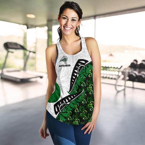 Image of Maori Pounamu (Jade) Women's Racerback Tank GS K7 - 1st New Zealand