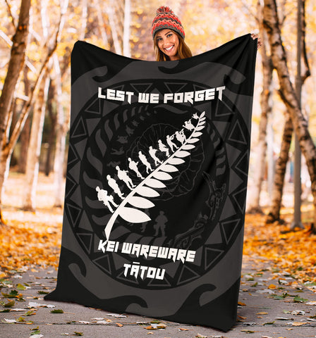 Anzac Tattoo New Zealand, Lest We Forget Premium Blanket K5