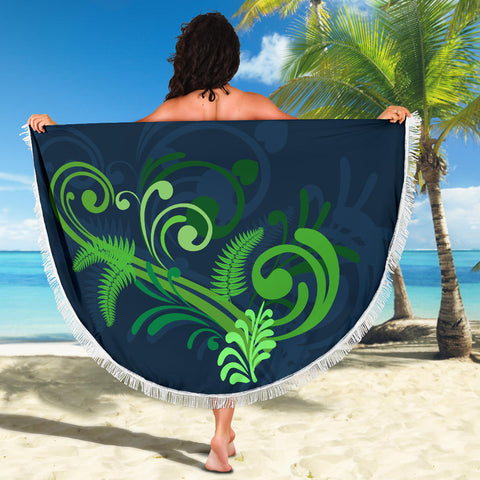 Beach Blanket NZ Silver Fern Green L1 - 1st New Zealand