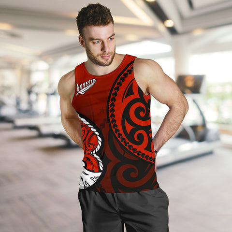 Lest We Forget - Maori Poppy Pullover Men's Tank Th00 - 1st New Zealand