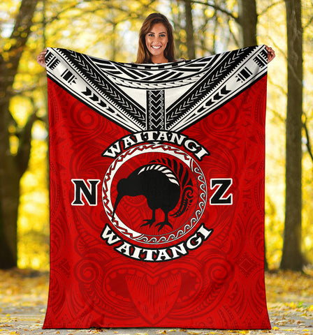 New Zealand Maori Blanket Waitangi Day - Red K54 - 1st New Zealand
