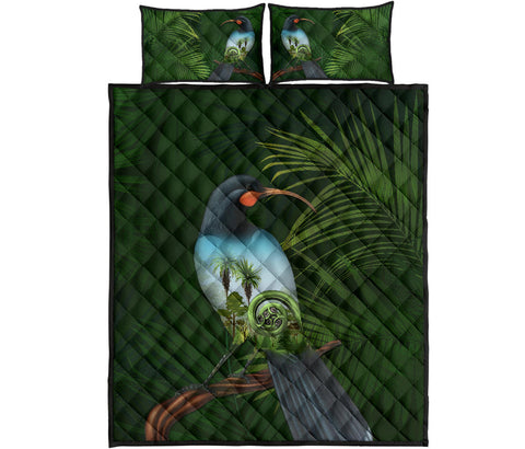 Huia Bird New Zealand Quilt Bed Set K5 - 1st New Zealand