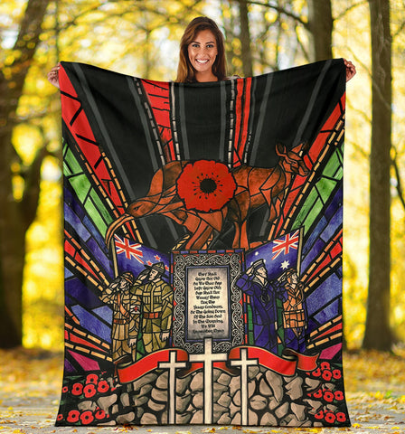 Image of New Zealand Blanket, Anzac Day Lest We Forget Australia Premium Blanket Th00 - 1st New Zealand