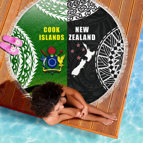 Image of New Zealand Cook Islands Beach Blanket K4 Front 5